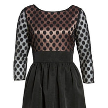Eliza J Dot Mesh Bodice Fit & Flare Dress SOLD OUT