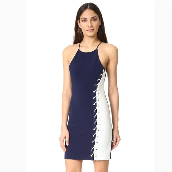 Parker Florence Side Laced Bodycon Sheath Dress