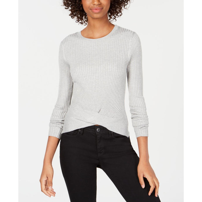 Hooked Up by IO -  Junior Ribbed Twist-Hem Sweater