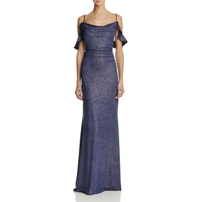 Laundry by Shelli Segal  Blue Metallic Dress