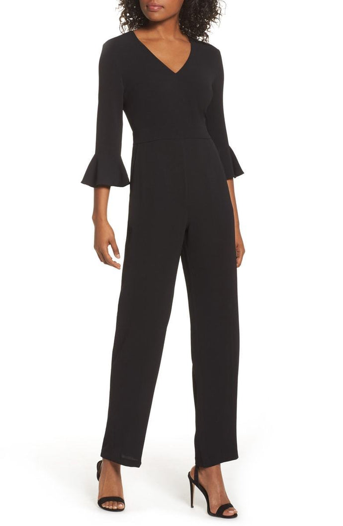 Charles Henry Flare Cuff Jumpsuit