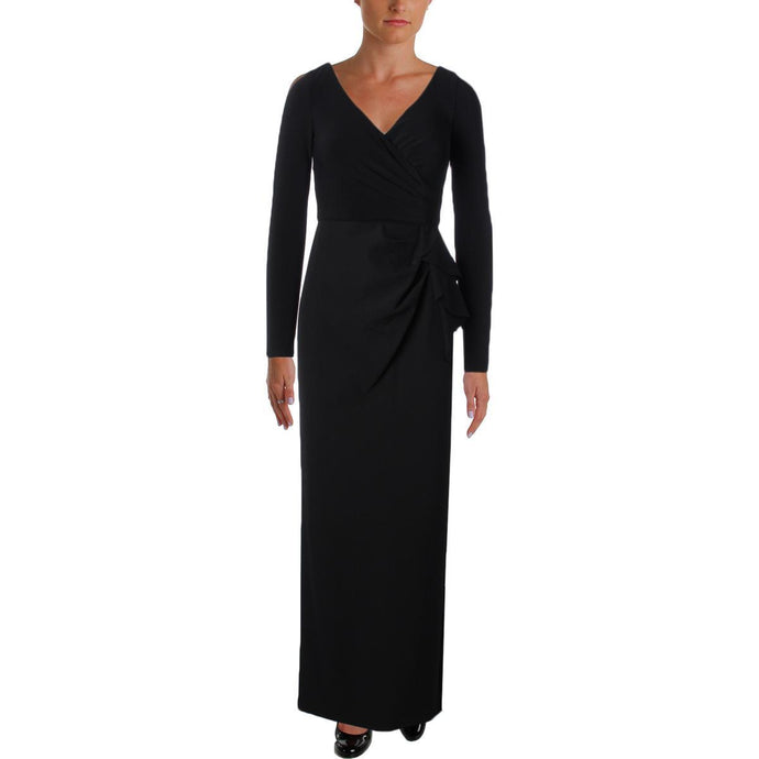 Lauren Ralph Lauren Womens Hectora Black Evening Dress Gown
