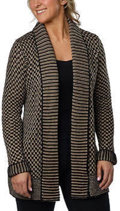 Matty M Open Front Shawl Cardigan