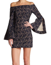 Keepsake- Off-Shoulder Lace Sheath Dress