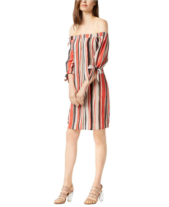 Bar III Women's Off-The-Shoulder Shift Dress