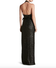 Dress The Population Black Giselle Sequin Wrap Gown