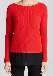 Two By Vince Camuto Cherry Red And Black women sweater