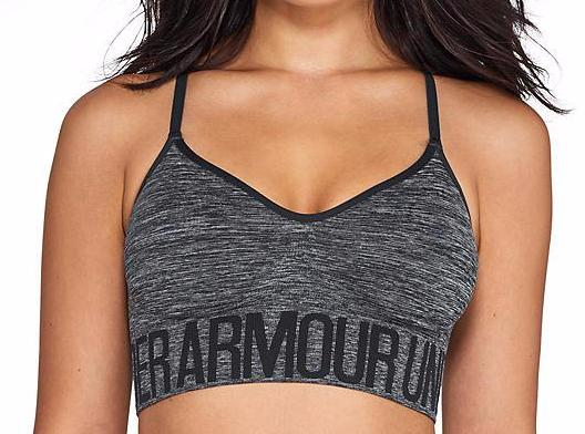 UNDER ARMOUR ARMOUR- STREAKY HEATHER WIRE-FREE SPORTS BRA