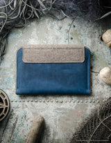 Leather Macbook Case | Sleeve | Ocean Blue
