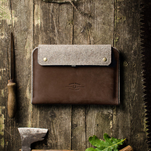 Leather Macbook Case | Sleeve | Wood Brown