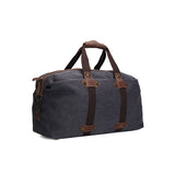 Handmade Waxed Canvas Duffle Bag | Weekend Bag | Dark Grey