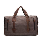 Handmade Waxed Canvas Duffle Bag | Weekend Bag | Army Grey