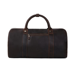 Vintage Style Genuine Natural Leather Travel Bag | Duffle Bag | Weekender Bag