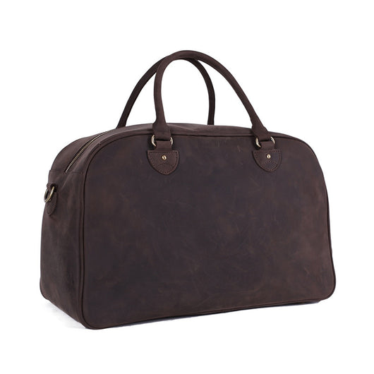 Vintage Top Grain Leather | Travel Bag | Duffle Bag | Holdall | Dark Leather
