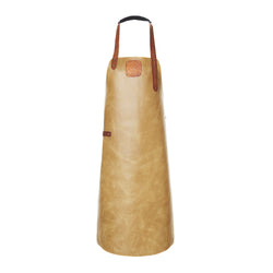 Leather Apron | BBQ Apron | Kitchen Apron | Beige & Brown