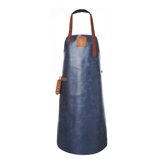 Leather Apron | BBQ Apron | Kitchen Apron | Blue & Brown