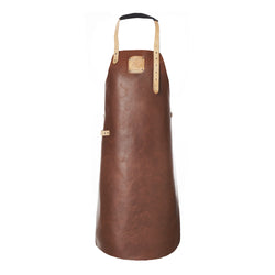 Leather Apron | BBQ Apron | Kitchen Apron | Brown & Beige