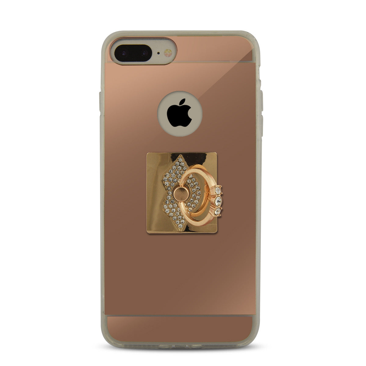 iOrigin iPhone 7 \u0026 7 Plus Rose Gold Mirror Case with Ring Stand/Holder ,  Lips