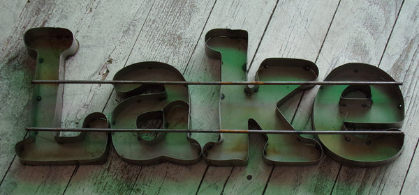Metal Letters Wall Sign :    Lake