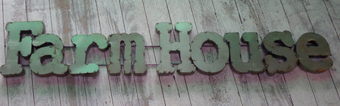 Metal Letters Wall Sign :   Farm House