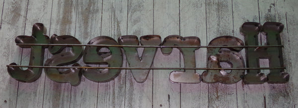 Metal Letters Wall Sign :   Harvest