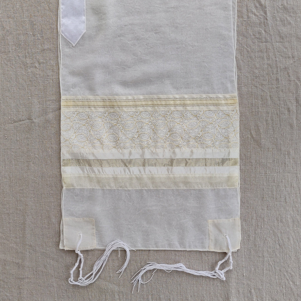 Lady Gabrieli - Voile Tallit - Gold