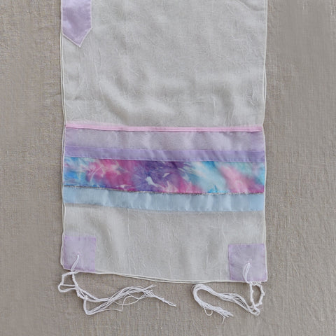 Lady Gabrieli - Voile Tallit - Pink and Purple