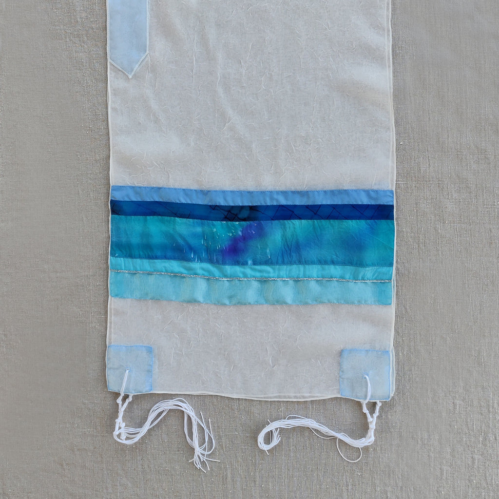Lady Gabrieli - Voile Tallit - Blue and Turquoise