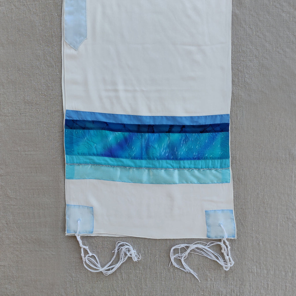 Lady Gabrieli - Viscose Tallit - Blue and Turquoise