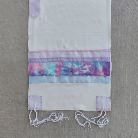 Lady Gabrieli - Viscose Tallit - Pink and Purple