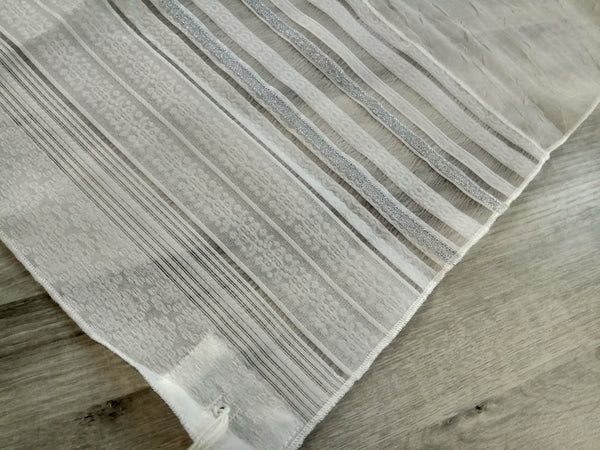 NEW - Lady Gabrieli Tallit - Voile with Lace and Silver