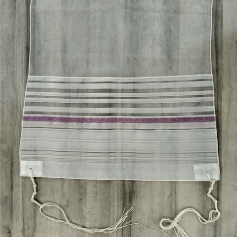 NEW - Lady Gabrieli Tallit - Voile with Lace and Pink