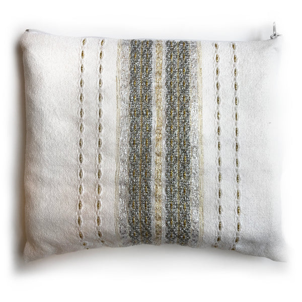 Gabrieli Premium - Wool - White with Gold & Silver