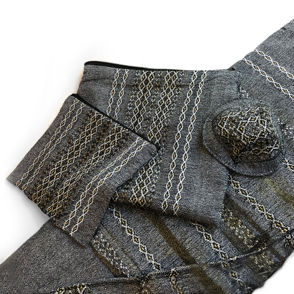 Gabrieli Premium - Wool - Gray with Gold & Silver