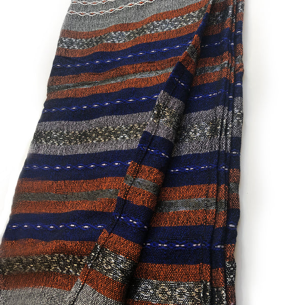 Gabrieli Premium - Wool - Gray with Blue & Orange