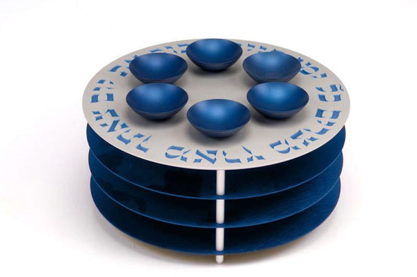 SEDER PLATE 3 LEVELS