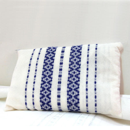 Daniel - Wool Tallit  - Blue on White