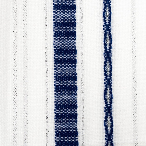 Tablecloths - Bold Design - Blue and Silver on White