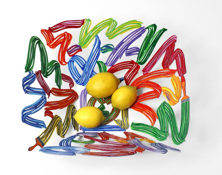 Brush Strokes Fruit Bowl