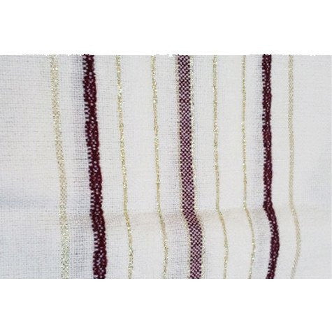Tablecloths - Burgundy and Gold Stripes