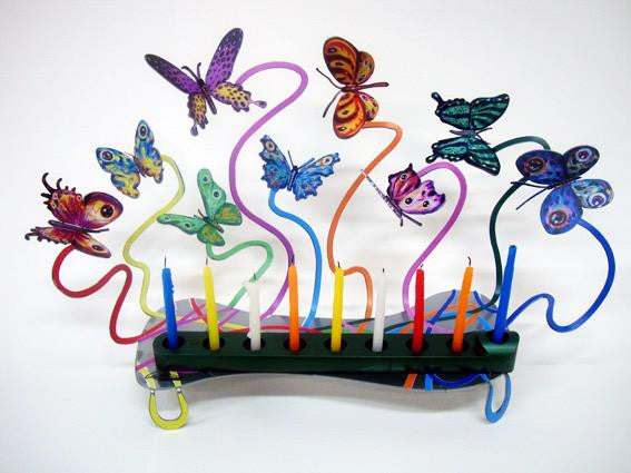 Butterflies Menorah by Gerstein