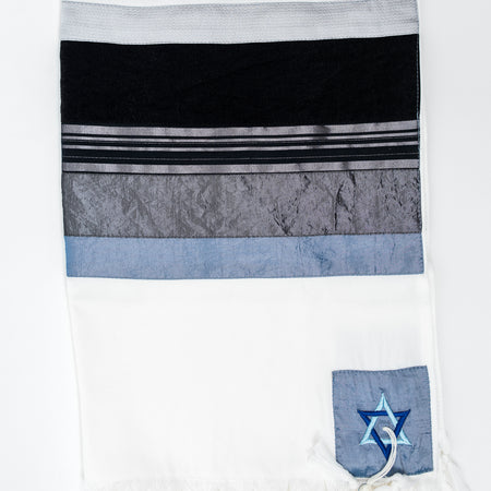 NEW - Elegant Gabrieli tallit - Black on White