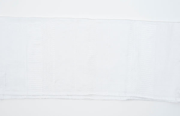 Elia - Silk Tallit - White on White