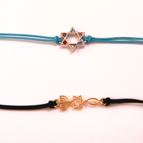 Magen David and Menorah Bracelet