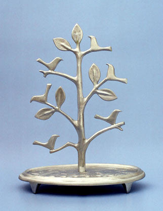 Tree with Birds menorah - Shraga Landesman