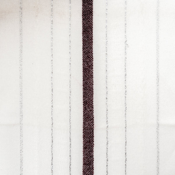 Tablecloths - Minimal Design - Bordeaux and Silver on White