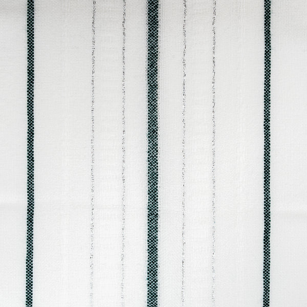 Tablecloths - Minimal Design - Dark Green and Silver on White