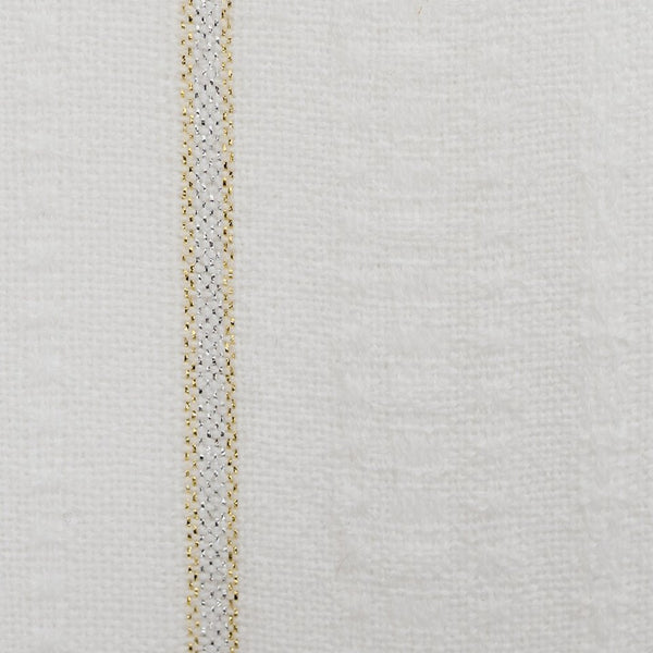 Tablecloths - Minimal Design - Gold and Silver on White