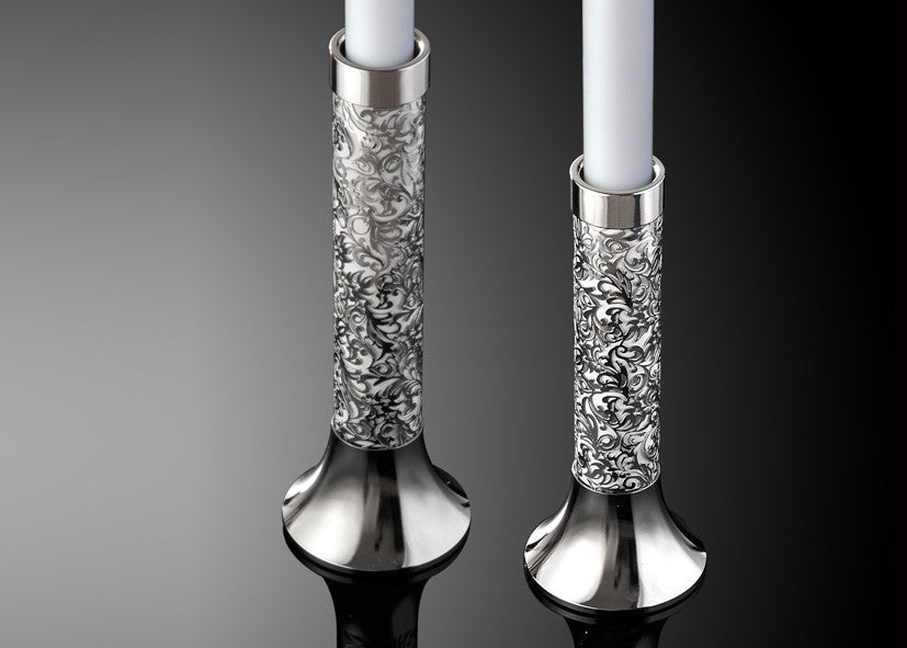 Candle Holders - Metalace Royal Jacquard