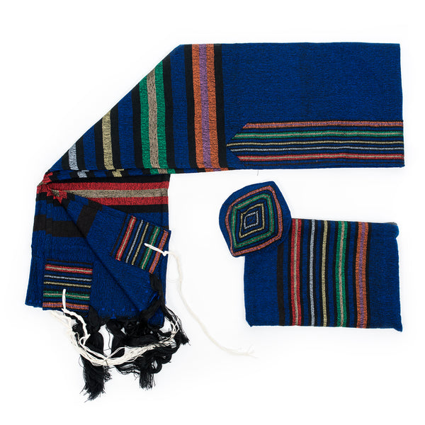 Purim - Wool Tallit - Blue